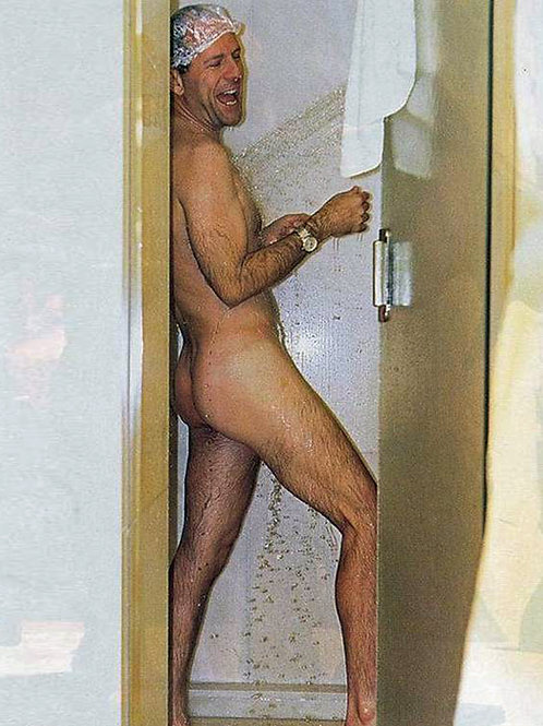 Bruce Willis Nude in a Shower