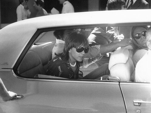 David Cassidy in the Rear Seat of a Car in 1974