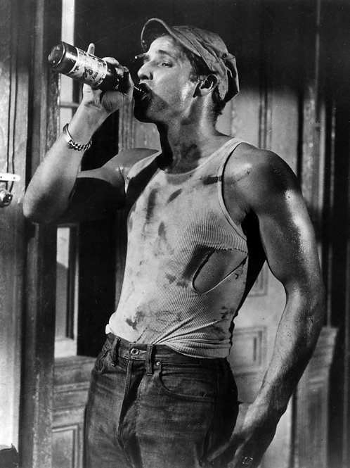 Dirty Marlon Brando in a Scene From A Streetcar Named Desire