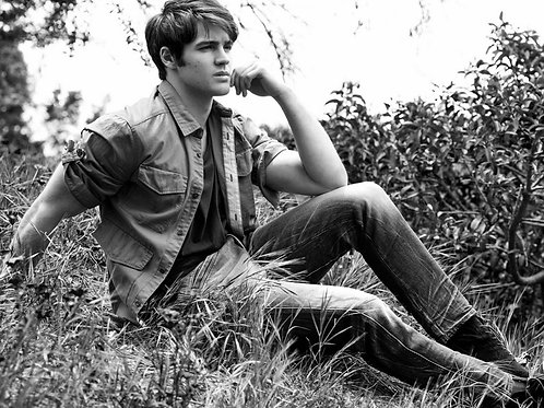 Steven R. McQueen Sitting in the Woods