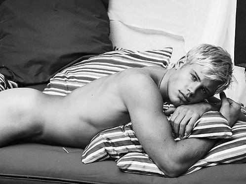 Trevor Donovan Laying Down in the Nude
