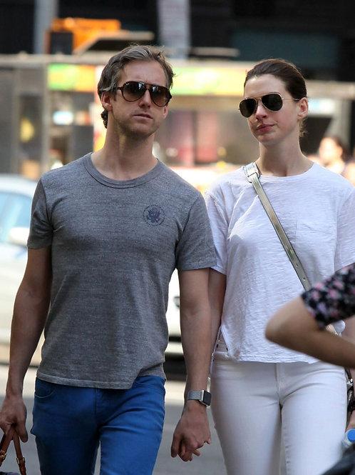 Anne Hathaway and Adam Shulman in New York