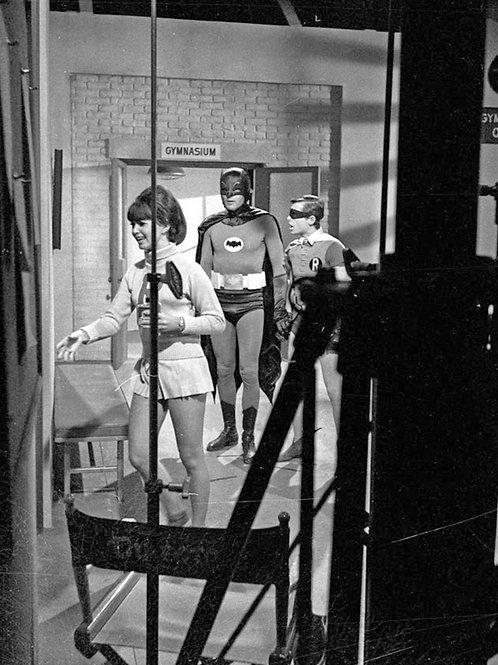 Adam West & Burt Ward on the Set of Batman in 1966