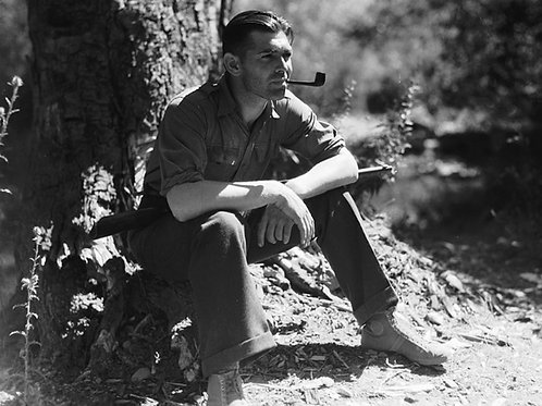 Clark Gable Smoking a Pipe in August 1931
