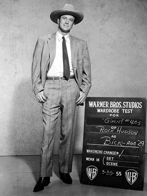 Rock Hudson in a Wardrobe Test for the Movie Giant in 1956