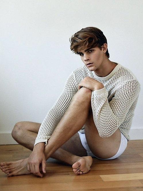 Leonardo Tano Wearing a Handmade Sweater