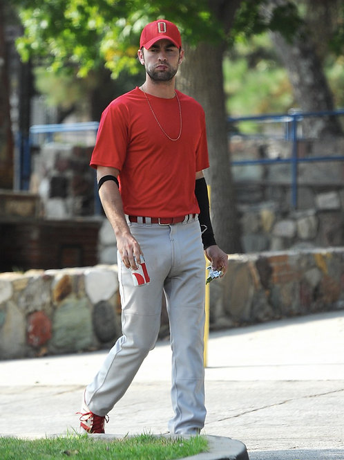 Chace Crawford Wearing a Baseball Uniform