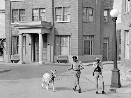 Andy Griffith Show 1962 Set Shot Walking a Goat