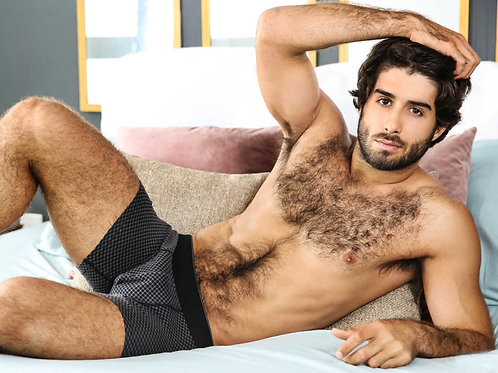 Hairy Guy Laying Down