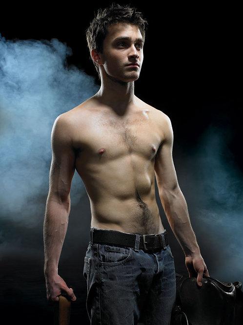 Shirtless Daniel Radcliffe in 2013