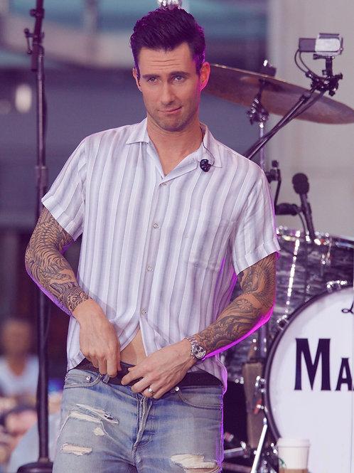 Adam Levine on Stage Wearing Thread Worn 501 Jeans
