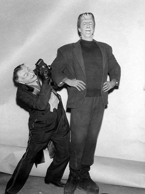 Al Lewis as Grandpa Photographing Fred Gwynne as Herman