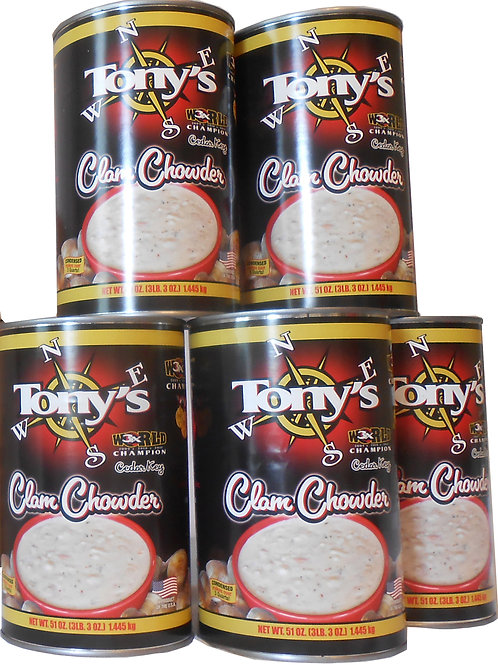 Tony's 3X World Champion Clam Chowder 5 pac (C5)