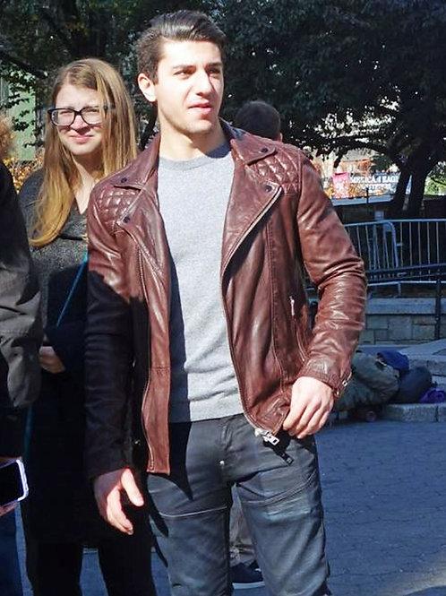 Leather Jacket Dude Packing