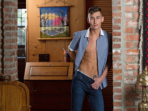 Cameron Boyd with his Shirt Unbuttoned