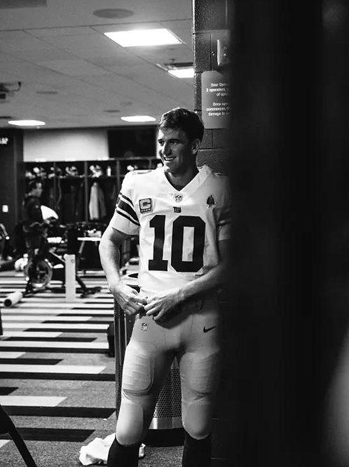 Eli Manning in the Locker Room