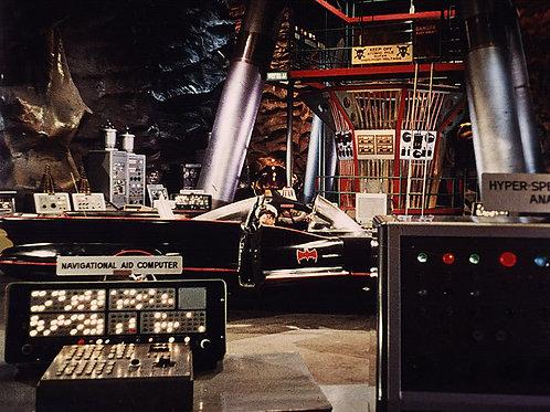 1960s TV Batman's Batmobile Parked in the Batcave