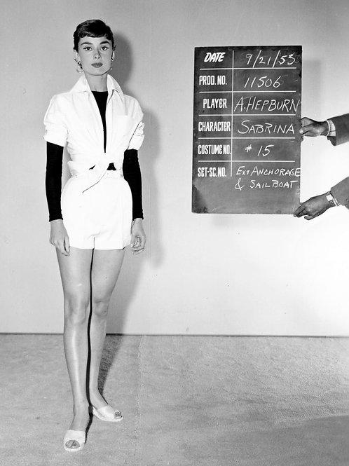 Audrey Hepburn in a Wardrobe Shot for the Movie Sabrina