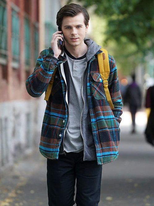 Chandler Riggs on his Cellphone