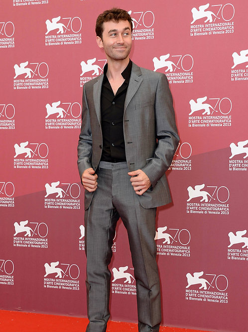 James Deen Showing a Nice Package in his Grey Suit Pants
