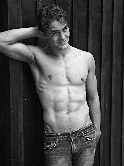 Jack DePew Posing Shirtless