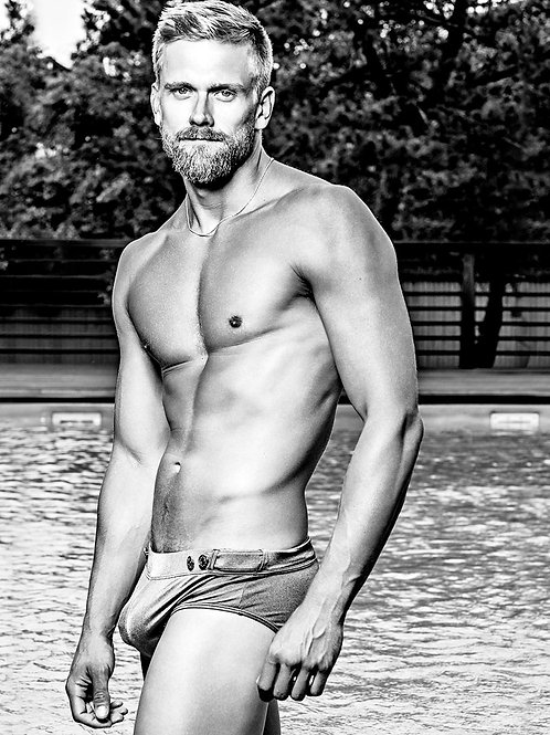 Adam Perry by a Pool