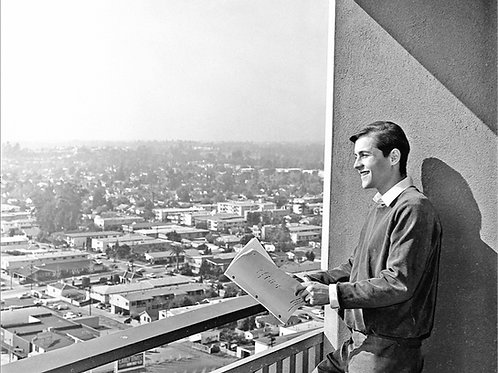 Burt Ward Studing his Script for the TV Batman Show