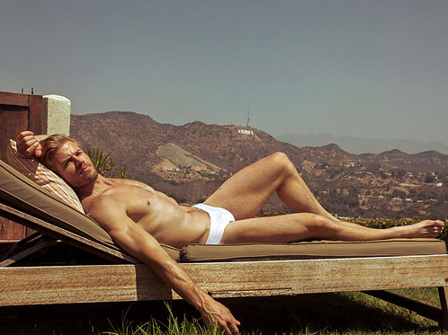 Shirtless Trevor Donovan Sunning in Hollywood