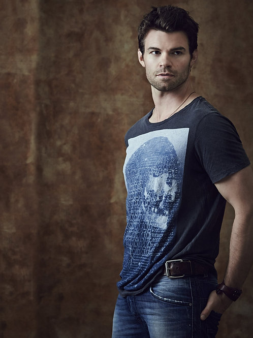 Daniel Gillies Wearing a Blue Shirt