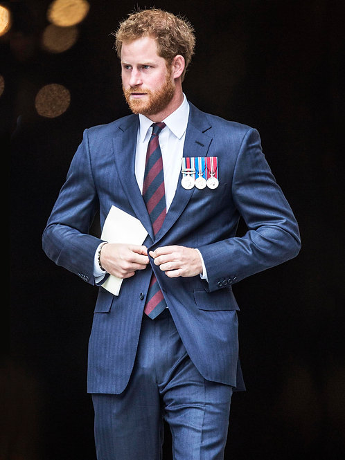 Prince Harry in a Blue Suit