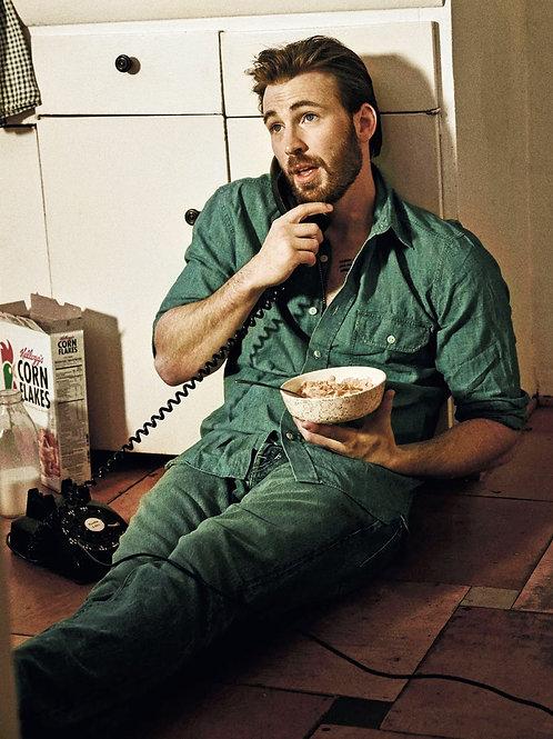 Chris Evans Eating Corn Flakes