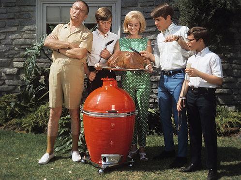 Cast Of My Three Sons Smoking a Turkey