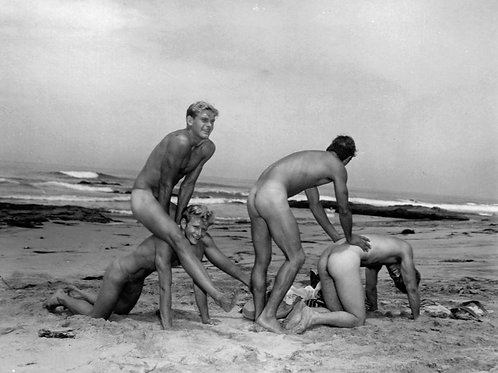 Vintage Leap Frog on the Beach