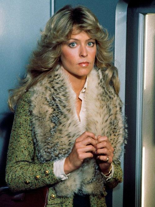 Farrah Fawcett Dressed in Fur