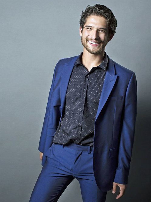 Tyler Posey Looking Sexy in a Blue Suit