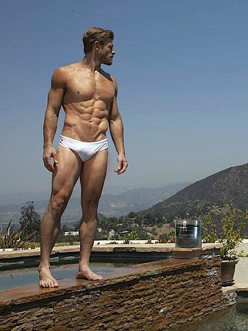 Trevor Donovan Wearing White Speedos