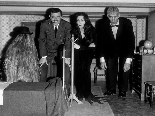Cast of the Addams Family Crouching in Cousin Things Bedroom