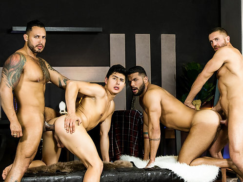 Horny Gay Men & a Twink Screw