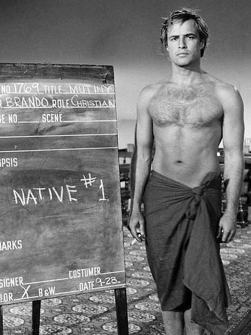 Marlon Brando Wardrobe test for Mutiny On The Bounty in 1962