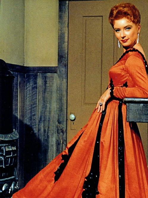 Amanda Blake in a Sultry Dress for Gunsmoke