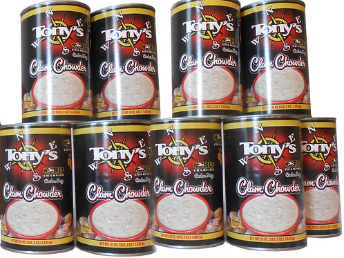 Case of 9 15oz Cans of Tony's Chowder with free shipping (C9)