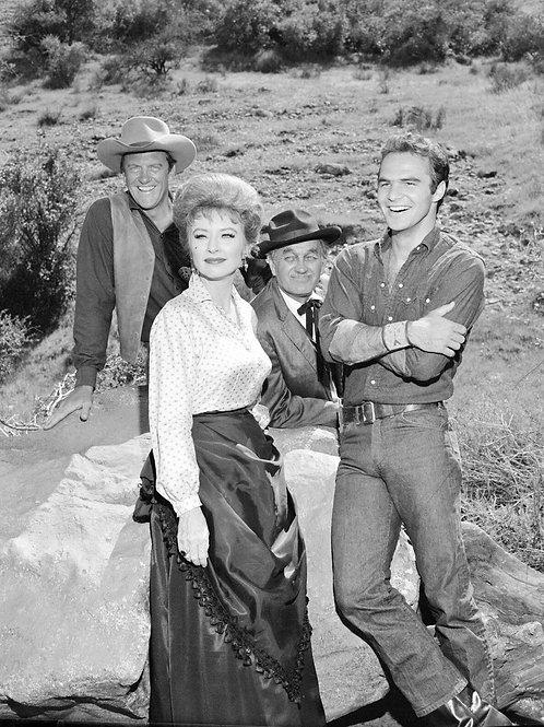 Cast of Gunsmoke with Burt Reynolds