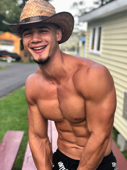 Shirtless Cowboy with a Goatee