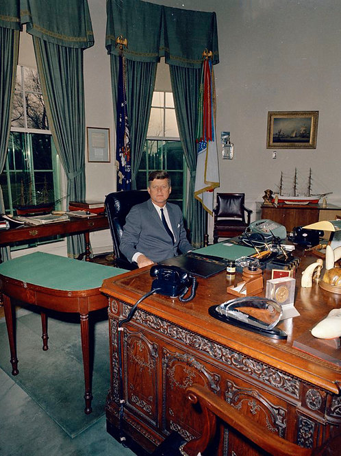 President Kennedy at His Desk in 1962