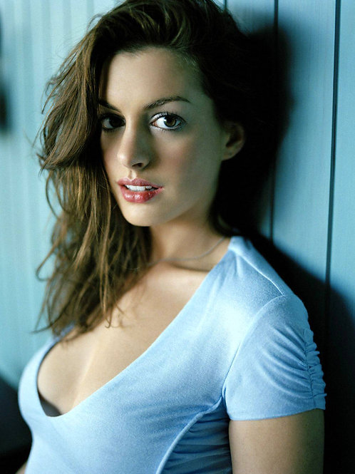 Anne Hathaway with Killer Eyes