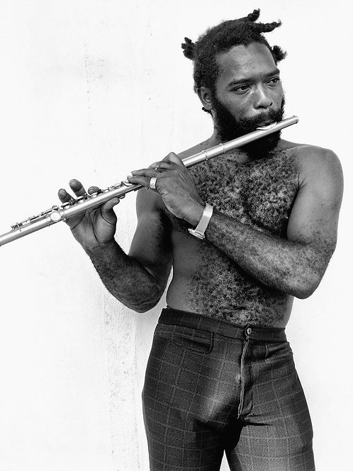 Bulging Guy Playing the Flute