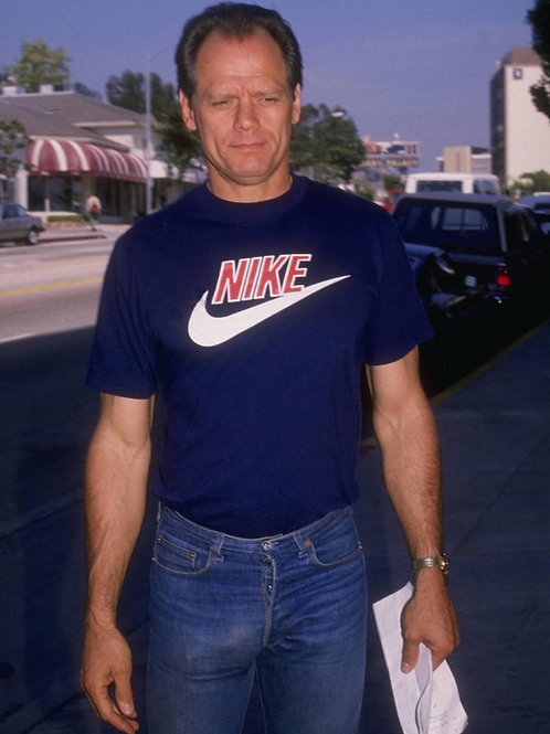 Actor Fred Dryer Wearing Faded Bluejeans