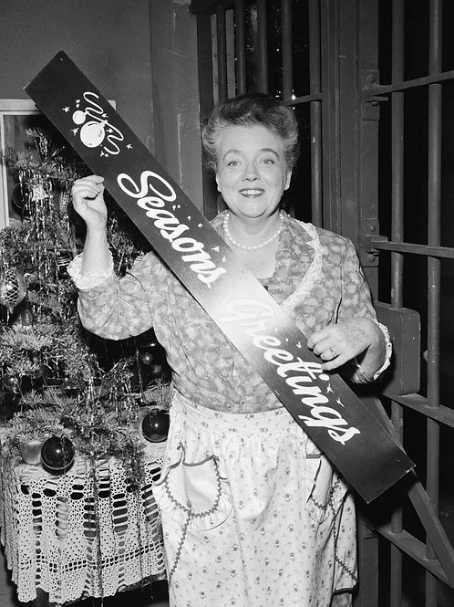 Francis Bavier as Aunt Bee for Christmas