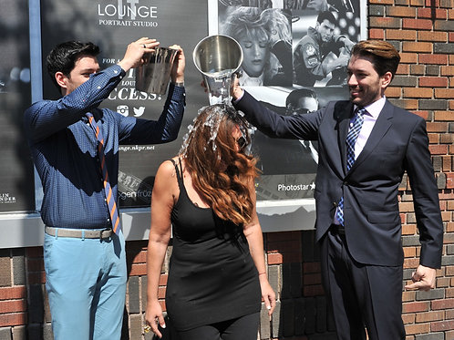 Jonathan Drew & his Brother Scott Pouring Ice Water on a Ladies Head