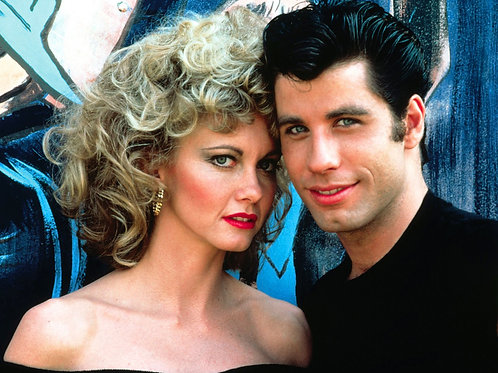 Olivia Newton-John With John Travolta in a Promo From Grease